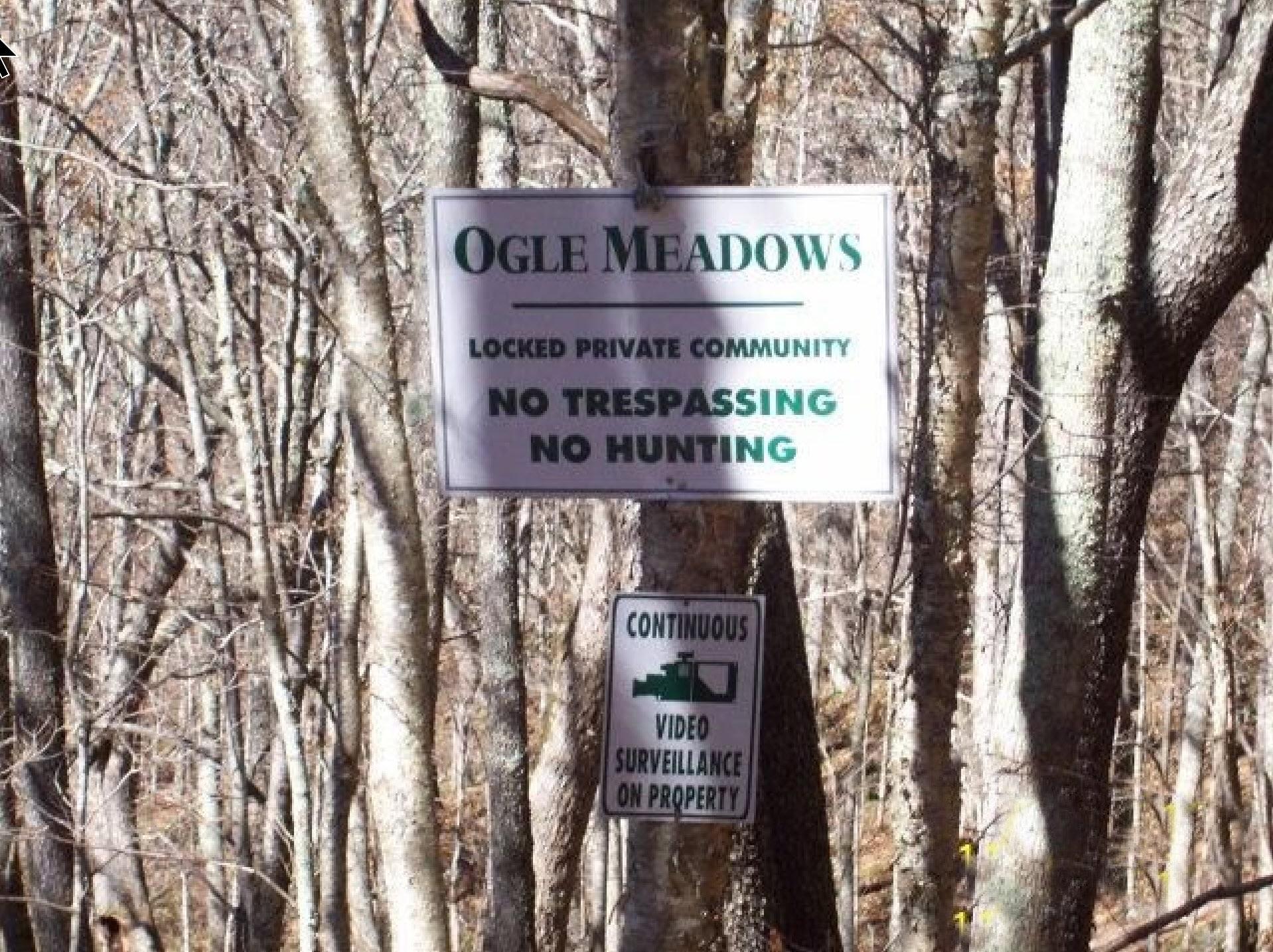 Ogle Meadows Sign- high elevation land for sale